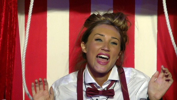 CBB: Megan McKenna in puppet task. 13 January 2016.