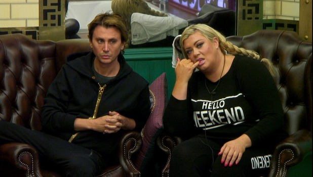 CBB: Gemma and Jonathan in the living room. 12 January 2016