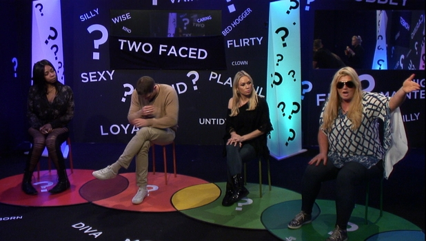 Gemma Collins throws a hissy fit during CBB task, 16 January 2016.