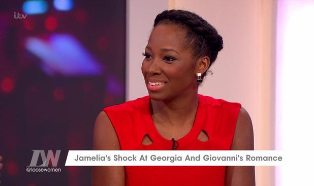 Jamelia talks Georgia May Foote and Giovanni Pernice romance on Loose Women 13 January