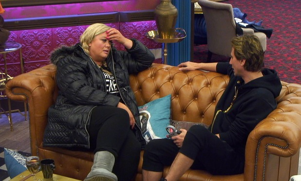 CBB: Gemma speaks to Jonathan before he decides to quit the show. 12 January 2016