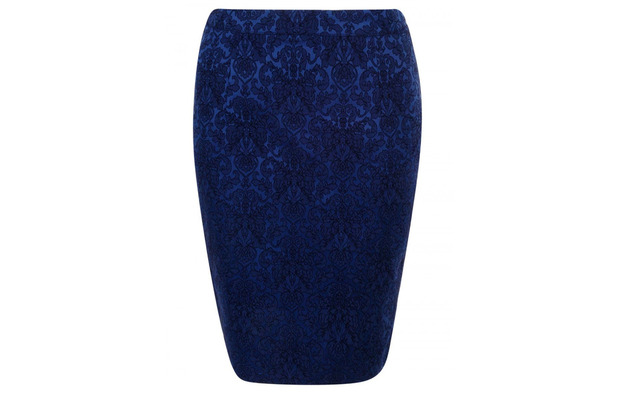 Madam Rage jacquard skirt, royal blue, £10, 15th January 2016