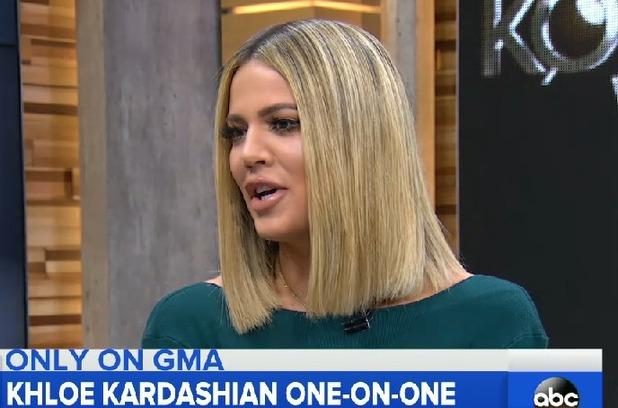 Khloe Kardashian appears on Good Morning America 13 January 2016