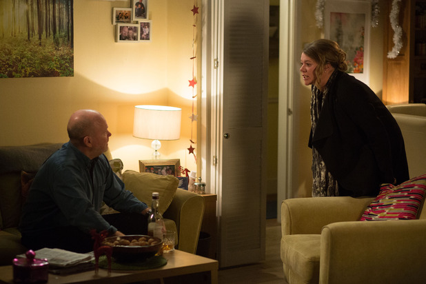 EastEnders, Sharon and Phil argue, Thu 14 Jan