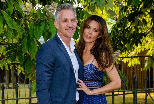 Gary Lineker and Danielle Lineker at the Serpentine Gallery summer party held in Kensington Gardens. 2 July 2015.