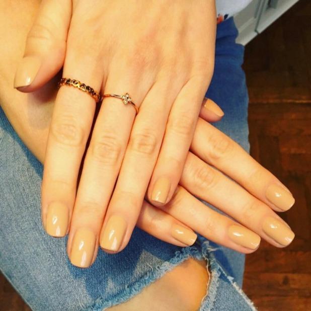 Mollie King nude nails by Sophia Stylianou, 12 January 2016