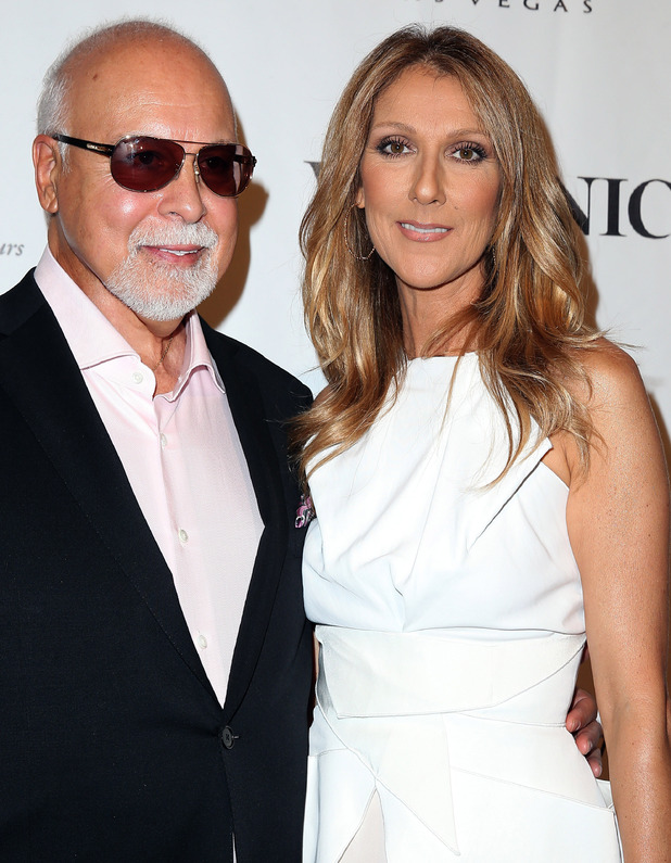 Rene Angelil and Celine Dion at Veronic Voices Opening. 28 June 2013.