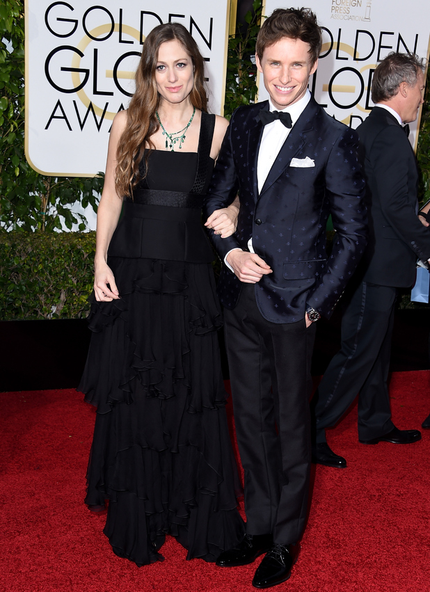 Eddie Redmayne and Hannah Bagshawe attend 3rd Annual Golden Globe Awards held at the Beverly Hilton Hotel 10 January 2016