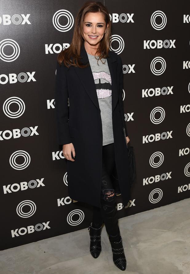 Cheryl Fernandez-Versini attends KOBOX gym launch party, London 14 January