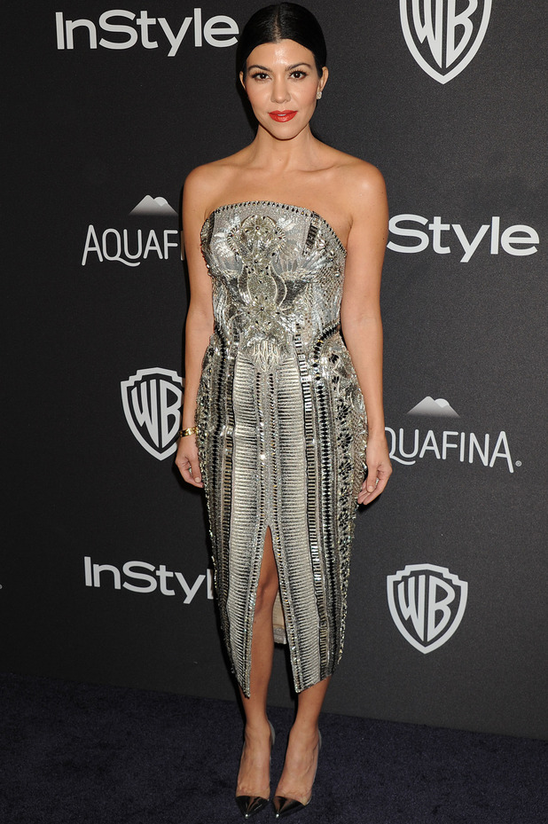 Kourtney Kardashian attends the InStyle and Warner Bros Golden Globes Awards in Los Angeles, 11th January 2016