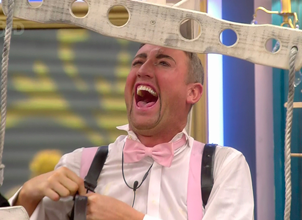 Christopher Maloney during the puppet master task on 'Celebrity Big Brother'. Broadcast on Channel 5 HD.