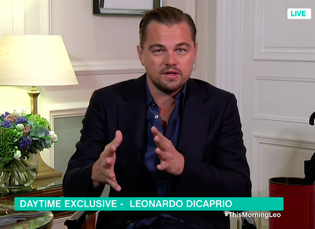 Leonardo DiCaprio promoting his new film, 'The Revenant', on 'This Morning'. Broadcast on ITV1 HD.