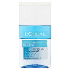 L'Oreal Absolute Eye & Lip Make-up Remover £5.49, 18th January 2016