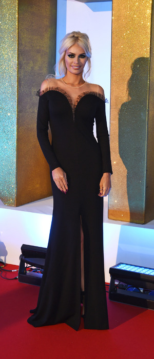 TOWIE's Chloe Sims attends the National Television Awards (NTAs) in London, red carpet arrivals 21st January 2016