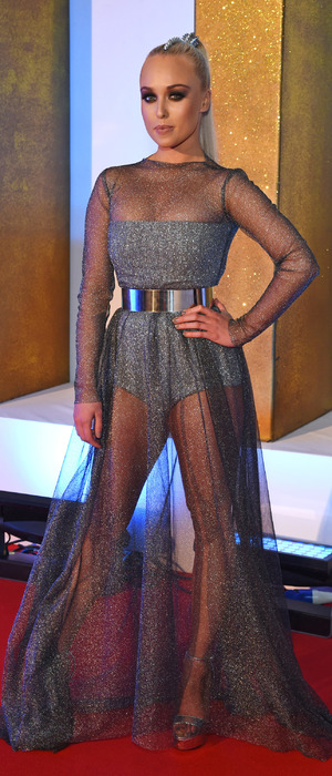 Jorgie Porter on the red carpet at the National Television Awards in London, (NTAs) 21st January 2016