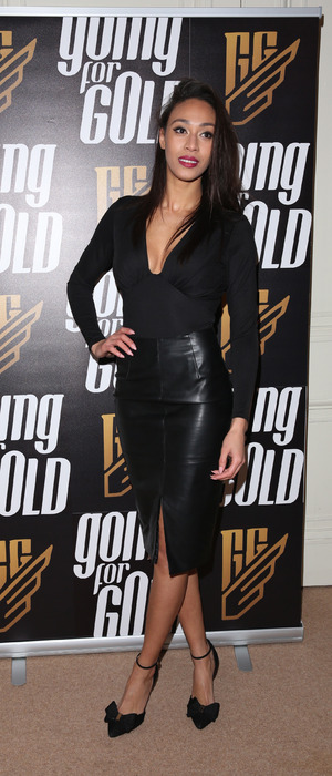 Rachel Christie, Love Island star, launches new fitness magazine titled: 'Going For Gold' in London, 20th January 2016