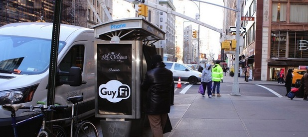 Guyfi booth has been installed in NYC