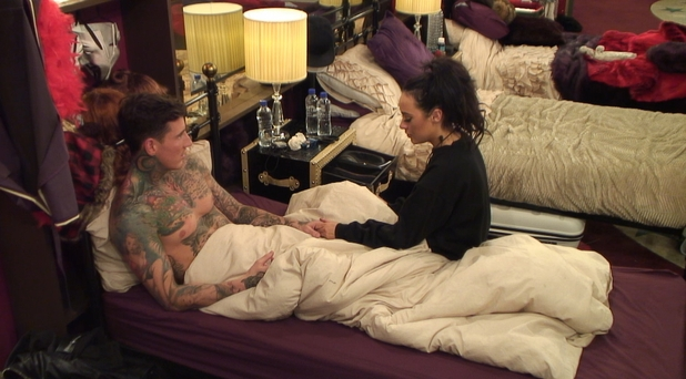 CBB: Jeremy McConnell and Stephanie Davis have a teary discussion about the nature of their friendship. 17 January 2016.