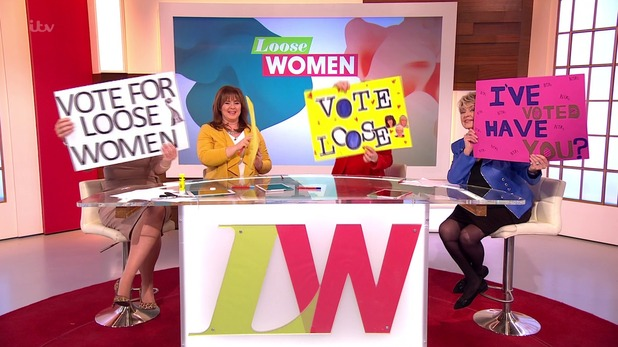 ITV NTA battle erupted live on air today between Loose Women and This Morning presenters, 19th January 2016