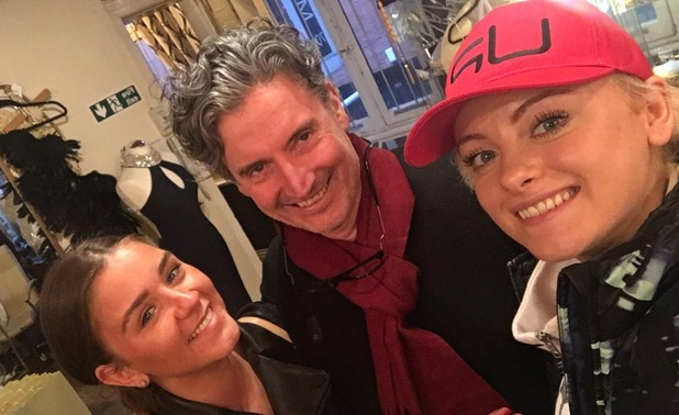 Brooke Vincent and co-star Katie at dress fitting for the NTAs 19 January