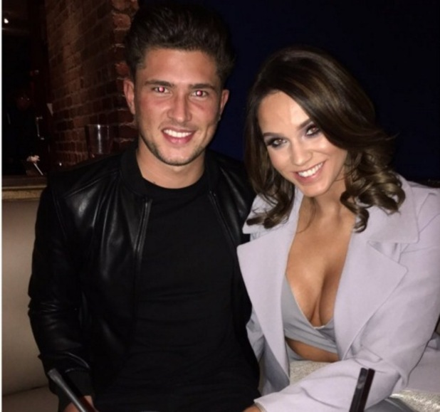 Jordan Davies and Vicky Pattison during night out in Liverpool 14 January