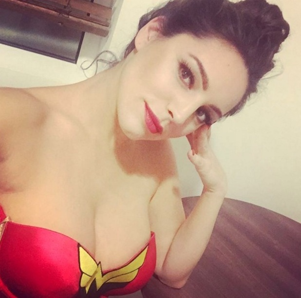 Kelly Brook dressed as Wonder Woman for new show with Keith Lemon 19 January