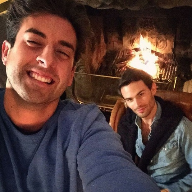 The Jump stars James 'Arg' Argent and Mark-Francis Vandelli in their Austrian Mountain Schloss house. 18 January 2016.