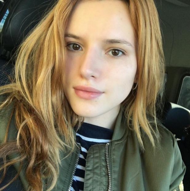 Bella Thorne posts selfie without ANY make-up on her face, 21 January 2016