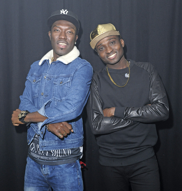 'The X Factor' (UK) 2015 runners up Reggie N Bollie perform live at G-A-Y watched by Sean Miley Moore and his partner - 9 January 2016.