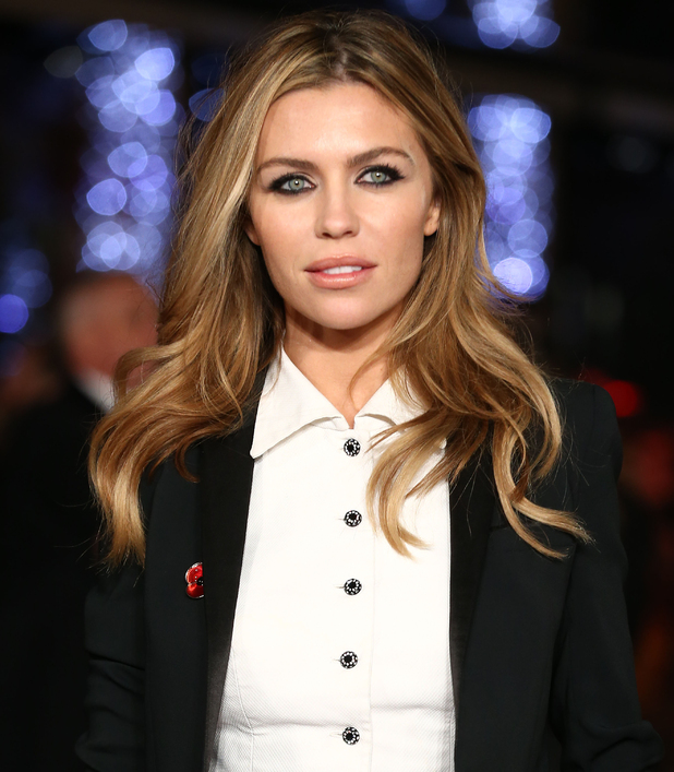 Abbey Clancy at the Hunger Games: Mockingjay Part 2' film premiere. November 2015.