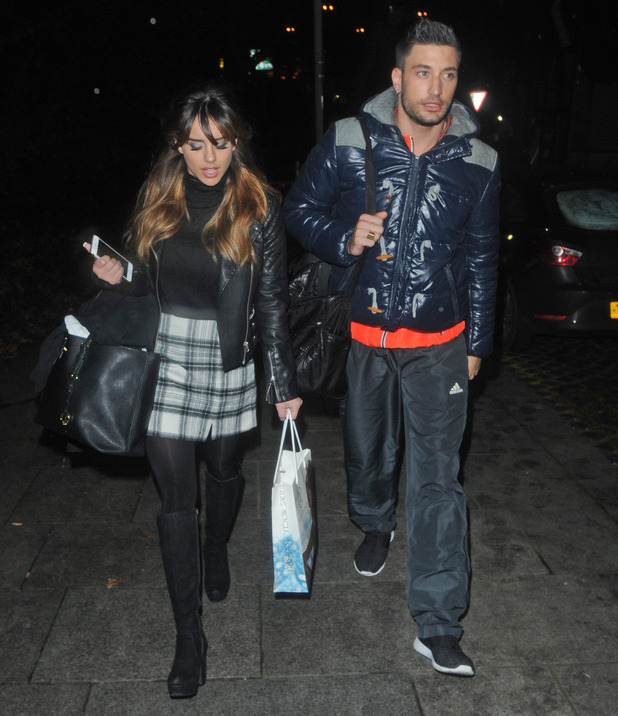 Georgia May Foote and Giovanni Pernice leave Strictly rehearsals, Birmingham 21 January