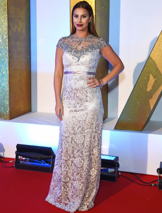 TOWIE's Ferne McCann on the red carpet at the National Television Awards, NTAs in London, 21st January 2016