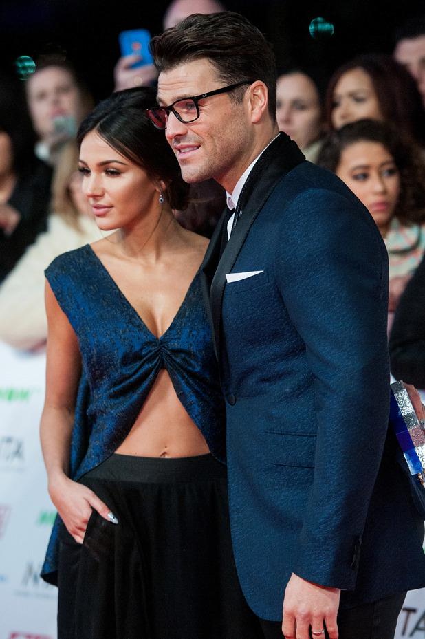 Michelle Keegan,Mark Wright at the National Television Awards (NTA) held at the O2 Arena - Arrivals. 20 January 2016.