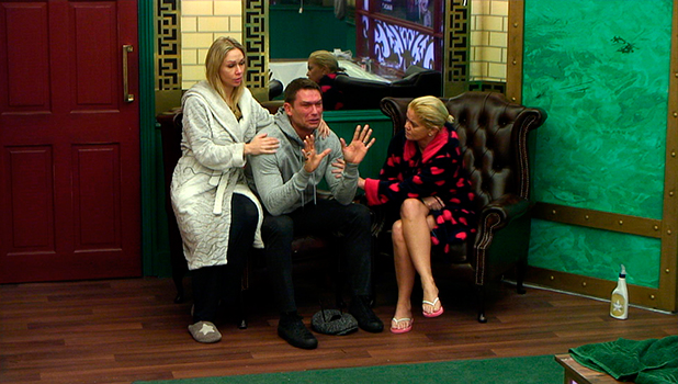 CBB Day 13: John is upset with Gemma for disrupting the house by thinking she saw a ghost.