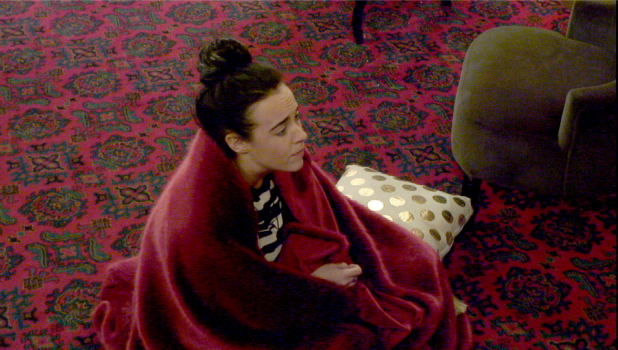 Day 16: CBB's Stephanie waits for Jeremy outside Diary Room
