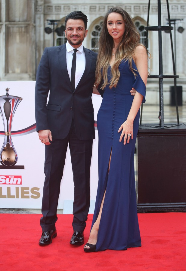 The Sun Military Awards 2016 (Millies) held at the Guildhall - Arrivals Peter Andre and Emily MacDonagh 22 January 2016