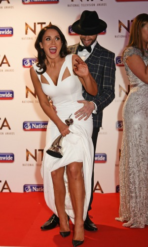 ) Brian Friedman, Ferne McCann, Vicky Pattison, Chris Eubank, Jorgie Porter, George Shelley, Tony Hadley and Lady Colin Campbell accept the Entertainment award for 'I'm A Celebrity...Get Me Out Of Here!' at the 21st National Television Awards at The O2 Arena on January 20, 2016 in London, England. (Photo by David M. Benett/Dave Benett/Getty Images)