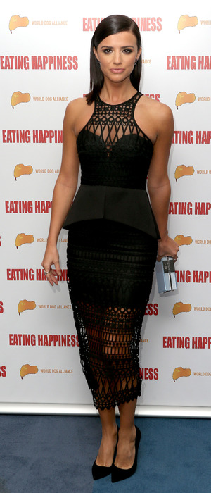 Former TOWIE star Lucy Mecklenburgh attends the Eating Happiness screening at the Mondrian Hotel in London, 26th January 2016