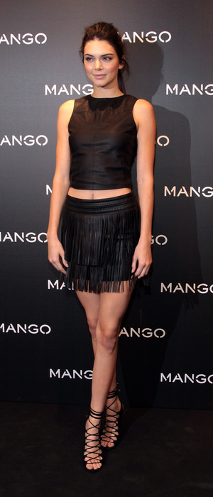 Kendall Jenner attends the MANGO Tribal Spirit launch party at MANGO store in Spain, 29th January 2016