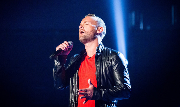 Kevin Simm appearing on episode 4 of The Voice UK.