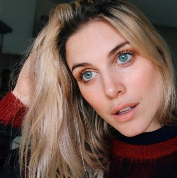 Ashley James takes to Instagram to show off glossy copper eyelid look, 25th January 2016