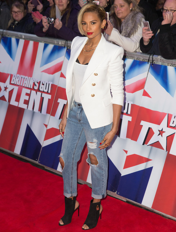 Alesha Dixon fakes a super-shot crop by braiding her bob, by Michelle Sultan, The Britain's Got Talent held at the Dominion Theatre, 26 January 2016