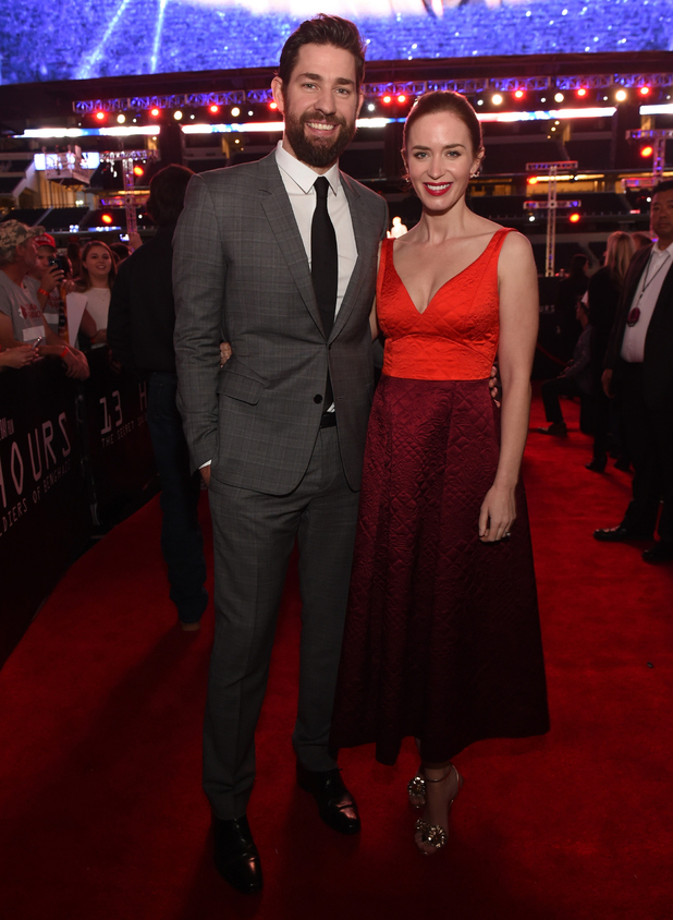John Krasinski and Emily Blunt attend the Dallas Premiere of the Paramount Pictures film '13 Hours: The Secret Soldiers of Benghazi', Texas 12 January