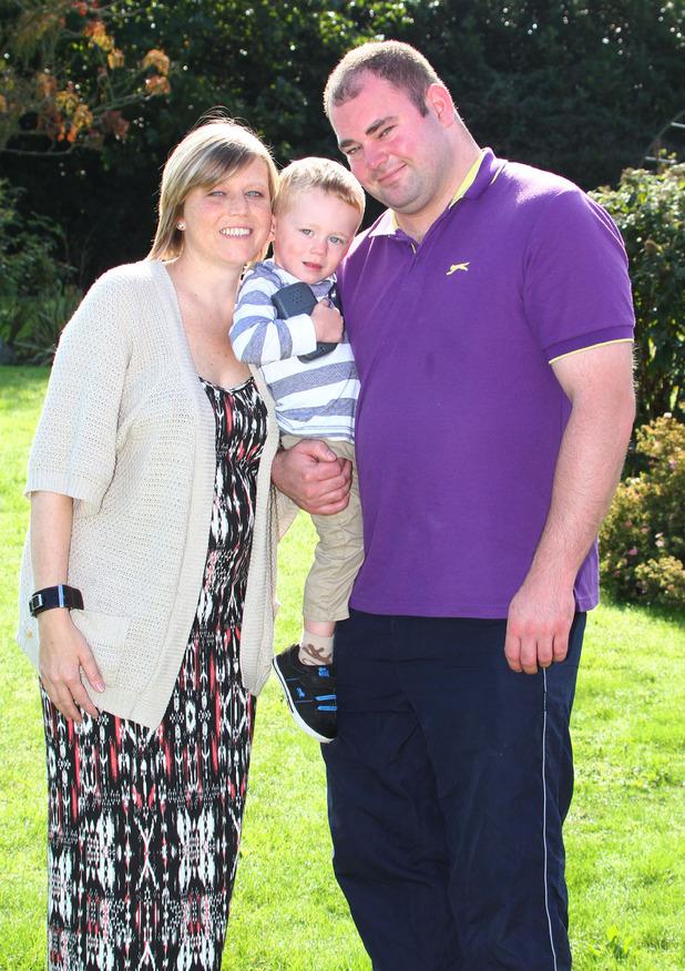 Gemma Sturge with husband Gary and their son Harley