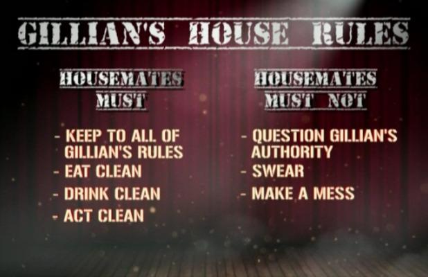 CBB: Gillian McKeith's house rules