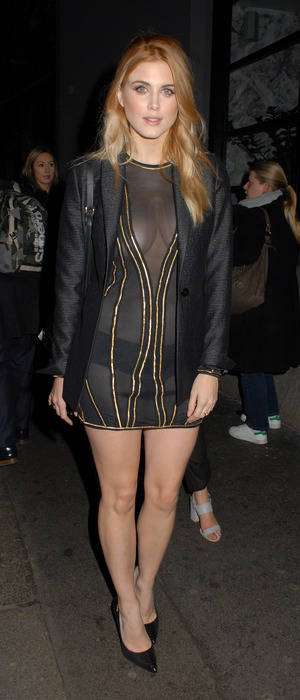 Ashley James in all-black at the Instyle Rising Star Awards BAFTAs party in London, 4th February 2016