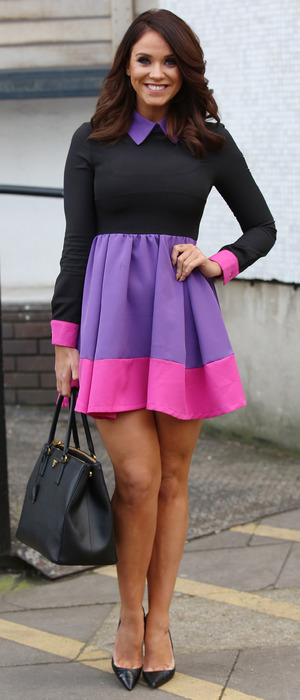 Geordie Shores Vicky Pattison wows in skater dress outside ITV Studios in London, 4th February 2016