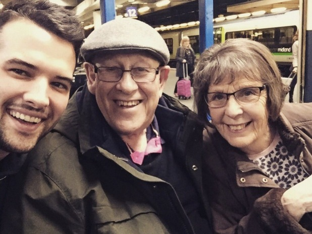 Ricky Rayment and Leon and June from Gogglebox 1 February