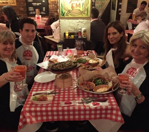 Binky Felstead and Josh JP Patterson dinner date with their mums 1 February