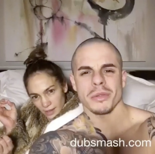 Jennifer Lopez and Beau Casper Smart share Dubsmash video singing their 'White Girl's Anthem,' 4 February 2016